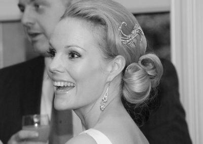 30's styled wedding hair up bun style