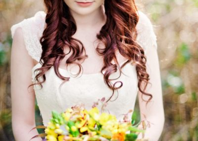 Long Celtic wedding hair style