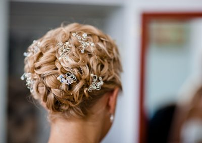 Wedding curly up style