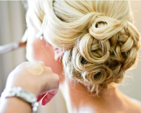 A wedding hair up do - Ash Tree Barns - barn wedding venues Norfolk