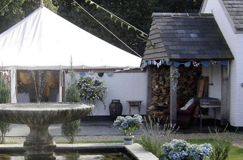 Courtyard and Spanish Garden at Ash Tree Barns
