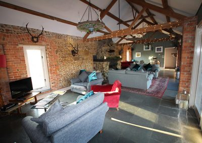Living area at Ash Tree Barns, Norfolk