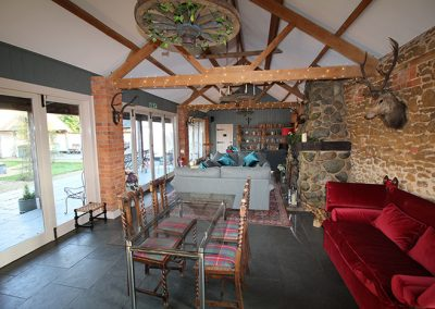 Dining area at Ash Tree Barns, Norfolk