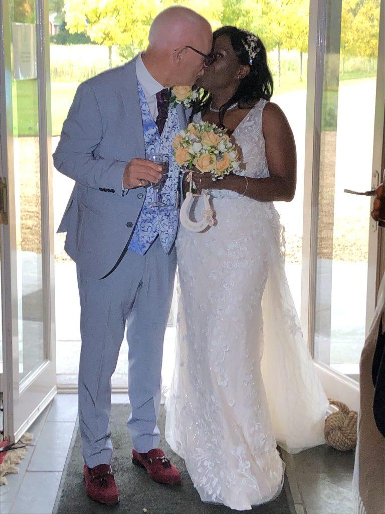 Bride and groom. Barns in Norfolk. Weddings in Norfolk.Bridesmaids. Wedding dress.
