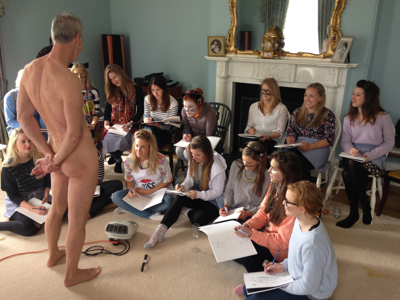 Life drawing for hen parties in Norfolk