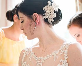 A wedding hair up do - Ash Tree Barns - barn wedding venues Norfolk